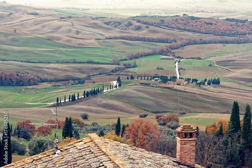 Deurstickers Toscane tuscany countryside landscape winter