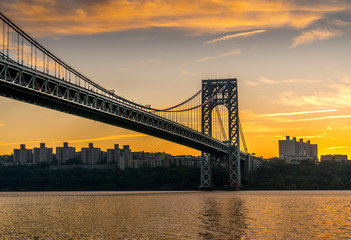 Sunrise And Autumn Colors New York New Jersey