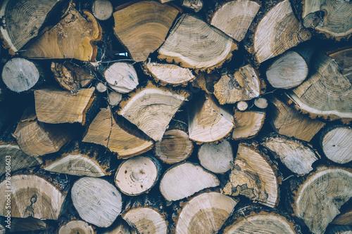 Papiers peints Texture de bois de chauffage Chopped wood. Picturesque natural texture