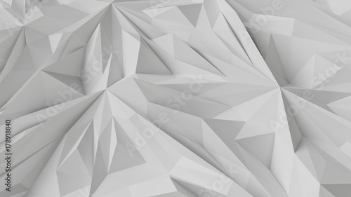 © PixlMakr - Fotolia.com Abstract triangular white wall