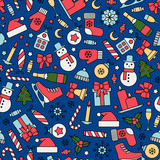 seamless pattern with christmas design elements - 178921871