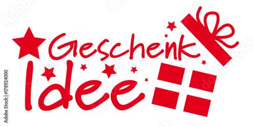 Geschenkidee rotes banner - 178924000