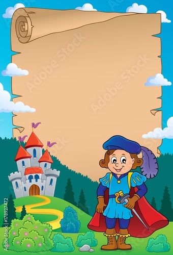 Papiers peints Enfants Parchment with prince theme 2