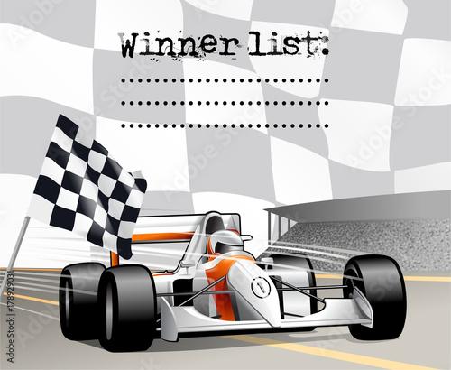 Fotobehang F1 motor sport winner list