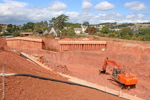concrete bridge supports under construction