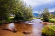 A smooth stream in the valley of Estes Park, Colorado.