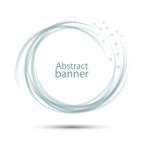 Banner abstract round vector transparent gray-blue - 178931405