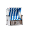 Strandkorb blau, weiß freigestellt - 178934625
