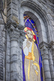 Basilica of our Lady of the Rosary. Mosaics. Lourdes, France, Hautes Pyrenees - 178936255