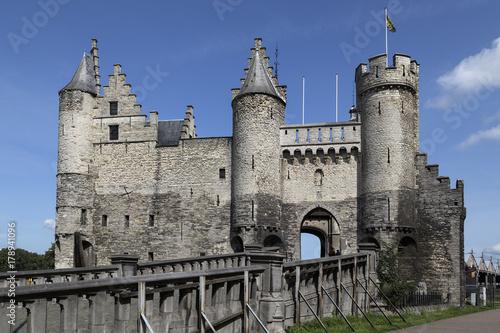 Tuinposter Antwerpen Antwerp Castle - Het Steen - Antwerp in Belgium