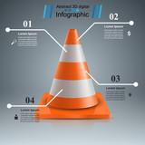Road repair - illustration. Cone icon. Vector eps 10
