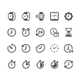 Time and clock glyph...