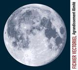 lune - clair de lune - vecteur - espace - planète, univers - satellite - illustration