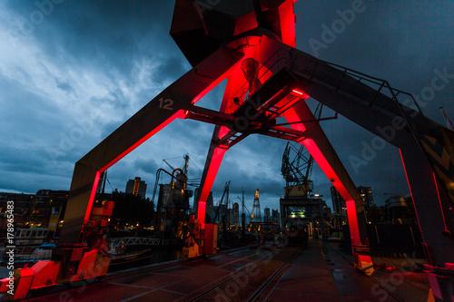 Aluminium Rotterdam Rotterdam skyline at night