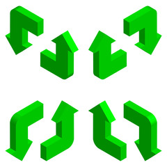 Arrows 3D. Isometric