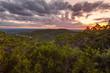 The sun sets over Lago Vista, Texas