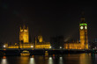 Houses of Parliament, Big Ben and Westminster Bridge, London at Night
