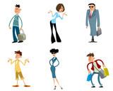 Six fashionable characters - 178973245