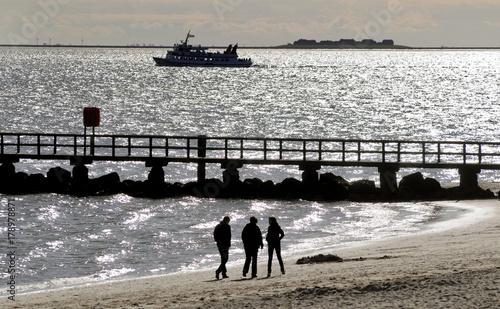 Foto op Canvas Noordzee Am Strand von Wyk