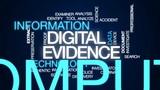 Digital evidence animated word cloud, text design animation. - 178979635