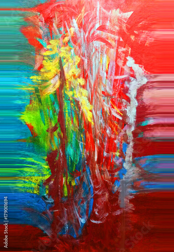 Fotobehang Abstractie Abstract. Abstraction. Painting. Colorful. Color