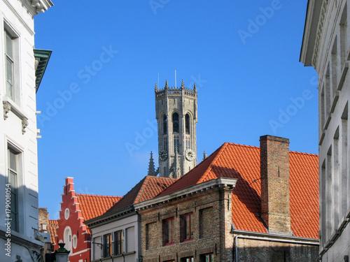 Papiers peints Bruges Medieval buildings in Bruges, Belgium, part of the UNESCO World Heritage Site