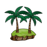 Palms tree isolated icon vector illustration graphic design - 179014870