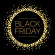 Black Friday Round Gold Sparkle Illustration 1