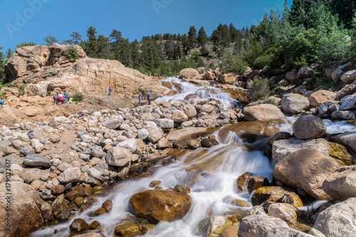 Fotobehang Bergrivier Alluvial Fan - Rocky Mountain National Park