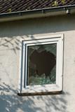 Broken window. Cracked window - 179024657