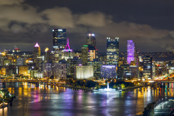 City of Steel - Pittsburgh, Pennsylvania at Night