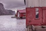 Wooden houses in norwegian fishing village - 179044087