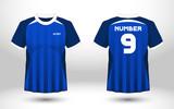 Layout football sport t-shirt design. Template front, back view. Soccer kit national team shirt mock up. Vector Illustration.