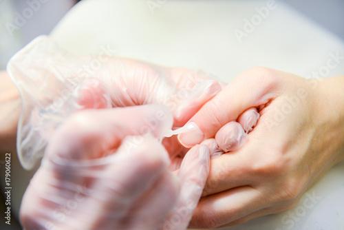 Fotobehang Manicure Manicure in process