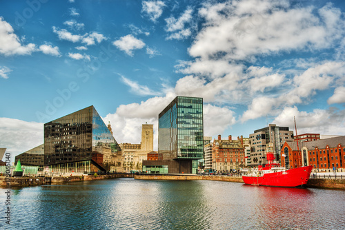 Cityscape of Liverpool, England
