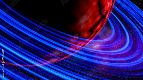 Foto op Plexiglas Abstract wave red space backgraund