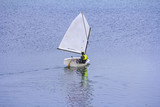 Sports sailing in small boats on the lake - 179071406