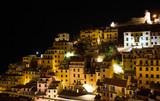 Riomaggiore in Cinque Terre by night, Italy - 179080048
