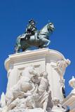 Statue of King Jose I in the Praca do Comercio in Lisbon, Portugal  - 179080065