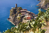 Aerial view of Vernazza in Cinque Terre, Italy - 179080080