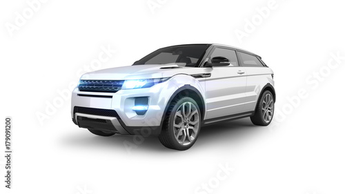 Compact SUV Isolated on White - 179091200