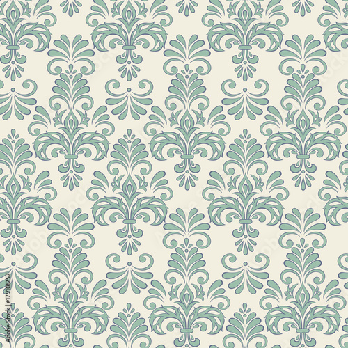Seamless Vector Floral Wallpaper Baroque Style Pattern