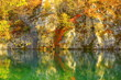 Fall landscape in National park Plitvice lakes, Croatia - 179117036