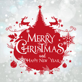 Merry Christmas an happy New Year, Banner - 179117468