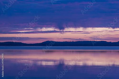 Foto op Canvas Zee zonsondergang After the storm