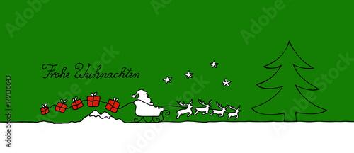 Papiers peints Vert Nikolaus mit Schlitten