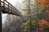 Suspension Bridge Crossing Over Tallulah Gorge in Georgia - 179137668