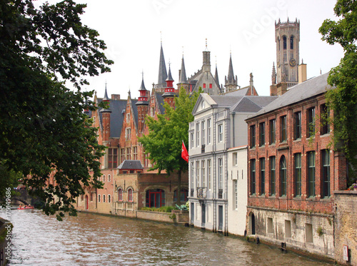 Papiers peints Bruges canal dans la ville de bruges