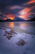 Fire and Ice sunrise in Vermillion Lakes