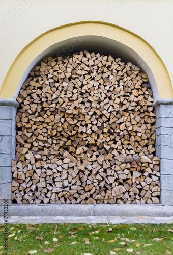 Papiers peints Texture de bois de chauffage fine stacked firewood